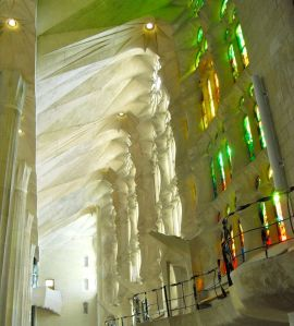 Sick walls of Sagrada Familia