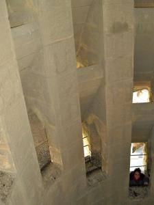 Inside Sagrada Familia tower