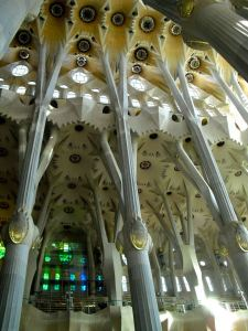 Ceiling and walls of Sagrada Familia