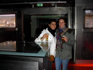 Alexa and I at the Heineken factory